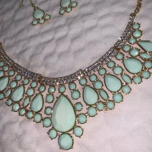 Mint Green and gold set